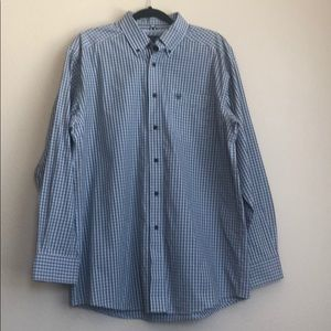 Ariat pro series button down shirt sz L